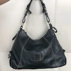 Black Pebble Leather Dooney & Bourke purse